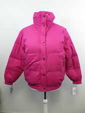 Ellis Brigham Super Down Ski Jacket Pink Zip Off Sleeves Size L 16 UK
