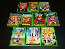 Garbage Pail Kids BNS1 Brand New Series 1 ADAM Bomb Through History Green Set 10