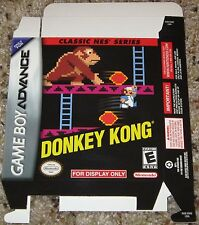 Donkey Kong Classic NES Series - For Display Only Box Game Boy Advance Nintendo