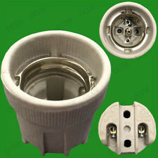 2x Edison Screw E27 ES Ceramic Socket Bulb Holder for Heat Lamps & High Temps.