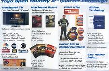 2007 Robby Gordon Toyo Tires SEMA Show Promo Baja Offroad handout