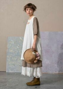 BNWT *Gudrun Sjoden* Fille organic cotton embroidered pinafore dress L 44""
