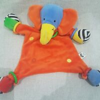 Jellycat elephant plush soft toy Blankie Blanket hoopy loopy elephant safari a
