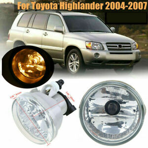 For Toyota Prius Touring 2004-09 Right Side Fog Light Lamp w/Bulb Amber Assembly