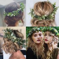 Adjustable Women's Leave Flower Headband Crown Garland Wreath Wedding Festival