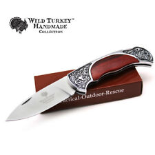 Wild Turkey Handmade Collection Old Fashioned Design Lock Back Folding Knife