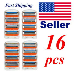 16 pcs 5 Blade Razor Refill Cartridge for Gillette Fusion Proglide Fast Ship USA
