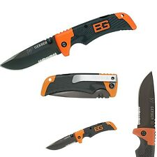 Gerber Bear Grylls Scout COLTELLO SURVIVAL KNIFE BLACK tachide materiale grip 8cm