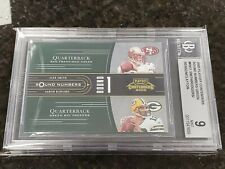 AARON RODGERS 2005 PLAYOFF CONTENDERS ROUND NUMBERS Green /1000 ROOKIE RC BGS 9