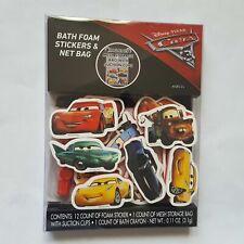 Bath Foam Stickers Bag Disney Pixar Cars Lightning MCQueen Rusty Boy Girl Tub