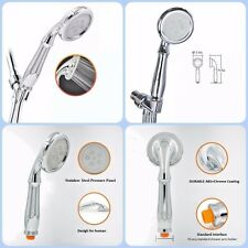 Bathroom Stainless Steel Handheld Shower Head High Pressure Ionic Filtration +