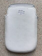 Genuine Blackberry White Leather Cover Case Pouch For Bold Curve