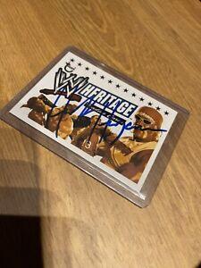 Hulk Hogan Hollywood Autographed Signed Card AUTHENTIC WWE WWF 2