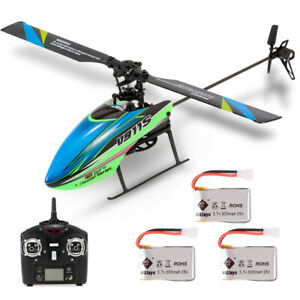 WLtoys V911S 4CH 6G Non-aileron RC Helicopter w/ 3 Batteries for Training S1W8