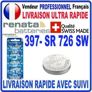 Pile 397 SR726SW 1.55V RENATA Pile bouton QUALITÉ PREMIUM MADE IN SWISS