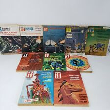 Worlds Of IF Science Fiction Magazine Book Lot of 10 Paperback 1960s-1970s Mixed