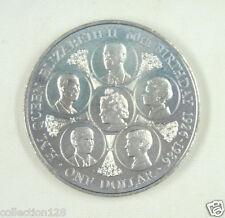 Cook Islands 1 Dollar Coin 1986 Almost UNC, 60th Birthday of Queen Elizabeth II