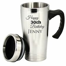 Custom Engraved Personalised Stainless Steel Travel Mug Coffee Cup Thermos Flask