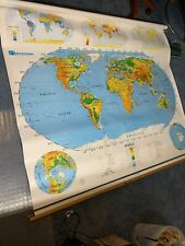 New sealed Nystrom United States / World Pulldown Classroom Map 1Sr991