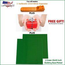 "LEGO Separator PLUS BONUSES 2-Green 10x10"" compatible base plates + 1-FREE GIFT!"