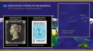 Micronesia- Penny Black 170th Anniversary Souvenir Sheet MNH
