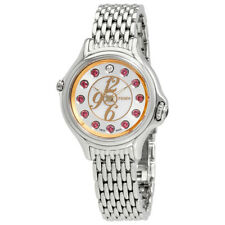 Fendi Crazy Carats White Mother of Pearl Dial Ladies Stainless Steel Watch