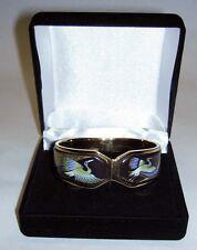 Crane Bird 24K Enamel Contessa Bangle Authentic Michaela Frey Tropic Rosa Flying