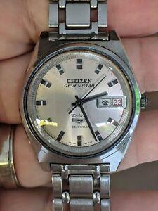 Vintage 69 Citizen Seven Star Deluxe JDM Watch, Orig Band, Works