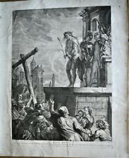 GRAVURE-ECCE HOMO-RELIGION-BIBLE-JESUS-PILATE-ABRAHAM VAN DIEPENBEEK-PIETER JODE