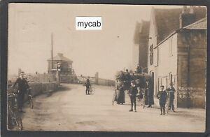 Postcard Southampton Hampshire 1907 Redbridge Railway Station level crossing RP