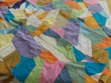Lap Quilt Material, Partially Completed Includes Precut Pieces, All Solid Colors