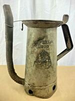 Vintage Original Huffman Half Gallon Swing Spout All Metal Oil Fill Can