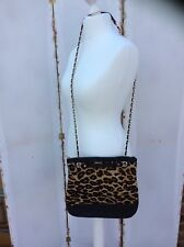 92c74e5d56fc Lovely DKNY Leopard Calf Hair & Quilted Leather Handbag - BNWOT