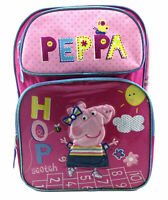 "16"" Peppa Pig Pink Large Backpack School Bag Licensed New with Tags Authentic"