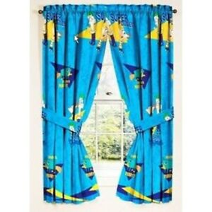 NEW Phineas & Ferb Disney Window Panels Curtains