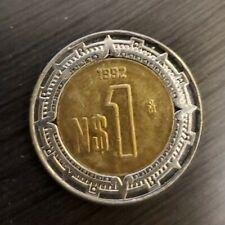 1992 1$ Bi-Metallic Mexico Coins Pesos