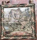 Antique French Wall Hanging Tapestry - 57 X 65 Cm Small