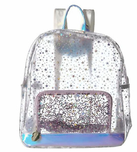 Luv Betsey by Betsey Johnson Full Size Clear Sparkle Stars Backpack - $98