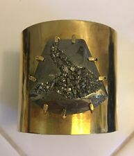 Kelly Wearstler Gold & Pyrite Cuff Bracelet