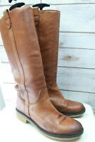 Boemos Italy Brown Leather 38 8 Women's Knee High Boots