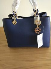 Michael Kors Cynthia Medium Leather Satchel -price tag,care card