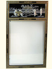 Oriental Mirror With Inlaid Pearl With Brass Hangars