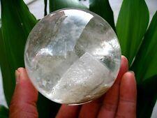 "930g RARE NATURAL ""Pyramid"" quartz crystal sphere ball healing"