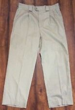 TILLEY ENDURABLES Safari PANTS Adventure Clothing Sz 37x28 Khaki PLEATED FRONT