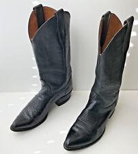 Vintage Tony Lama Cowboy Boots Black Leather Mens 8 ½ D Style 2959