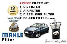 Per RENAULT CLIO 1.5 DCI DT 2009 -- > in Service Set Olio Aria Carburante Polline Filtro KIT