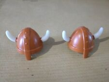 PLAYMOBIL: 2 CASQUES VIKINGS/ HELM CASCO HELMET/ RITTER CABALLERO KNIGHT #435