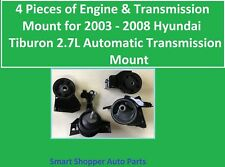 4 Pieces of Engine & Transmission Mount for 2003 - 2008 Hyundai Tiburon 2.7L A/T