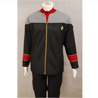 Star Trek NEM Nemesis Admiral's Costume Cosplay Uniform Jacket Shirt Badge