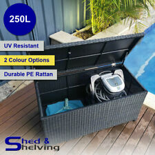 250L UV Resistant PE Rattan Outdoor Patio Pool Area Storage Box Chest Trunk